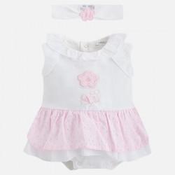 Pelele bebe niña falda 1814 Mayoral