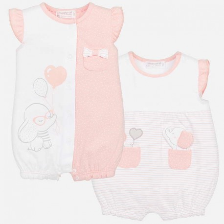 Set 2 pijamas bebe niña 1718 Mayoral