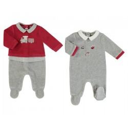 Set 2 pijamas tundosados recién nacido niño 2774 Mayoral